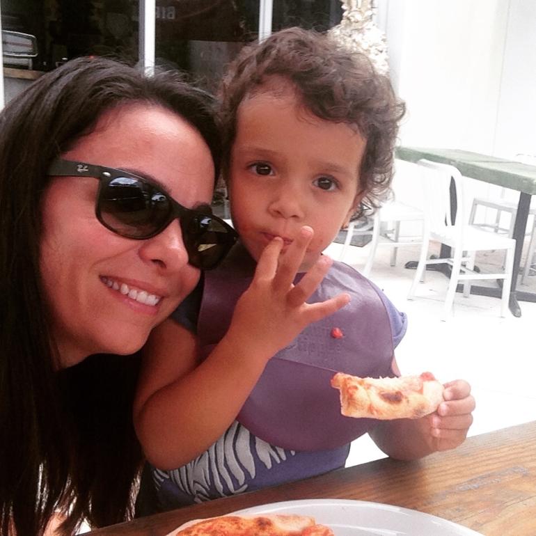 Finger-licking good pizza!